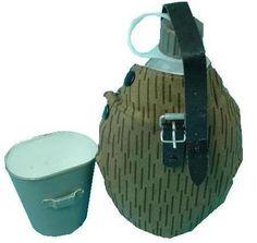 NVA Feldflasche mit Becher / mehr Infos auf: www.Guntia-Militaria-Shop.de