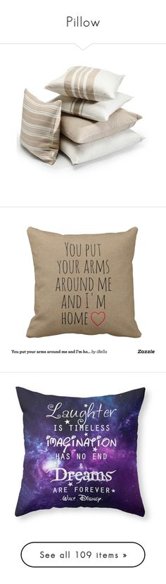 """""""Pillow"""" by sakisombor ❤ liked on Polyvore featuring home, bed & bath, bedding, pillows, interior design, bed, filler, european pillow-sham, king sham and king size pillow shams"""