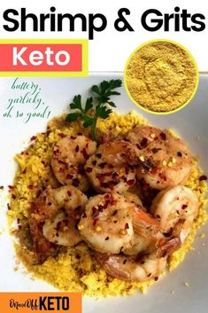 You've gotta try this delicious low carb Keto Shrimp and grits recipe! It's the perfect keto grits and no it's not cauliflower or almond flour! It's ground lupin, fluffy, flaky and delicious. Try this low carb lupin recipe, your whole family will love this buttery low carb shrimp and grits recipe #ketogrits #shrimpandgrits Banting Recipes, Low Carb Recipes, Healthy Recipes, Keto Side Dishes, Side Dishes Easy, Grits Recipe, High Fat Foods, Low Carbohydrate Diet, Island Food