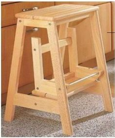 Diy Fold Up Pine Stepping Stool Homehardware Diy Stool