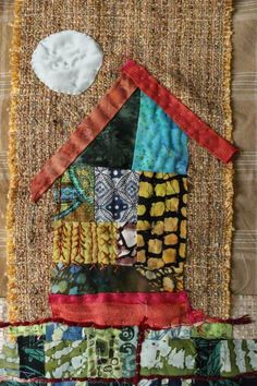 textile artist Jude Hill/ almost freeform or doodling Art Textile, Textile Artists, Small Quilts, Mini Quilts, Fabric Art, Fabric Crafts, Quilting Projects, Sewing Projects, Fabric Postcards