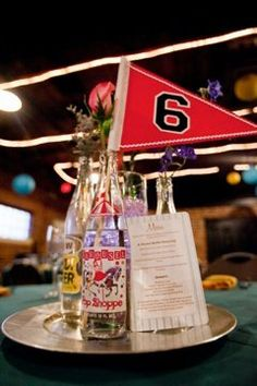 #Wedinthecity #Wedding #Personalized     Centerpieces that fit the bride and groom perfectly