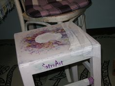 From an very old to an young and fresh chair.  More at https://www.facebook.com/ShatroArt