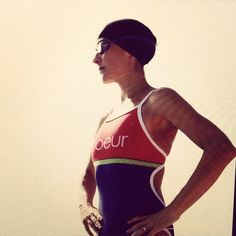New swimsuits and bikinis are in at www.coeursports.com. #swimwear #triathlon #heartandcourage