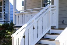 I want to add charm and character to my home. I found this tutorial on building flat sawn baluster railings. Looks super easy to do. Porch Railing Designs, Front Porch Railings, Porch Stairs, Front Porch Design, Deck Railings, Front Porches, Wooden Gate Designs, Wooden Gates, Porch Over Garage