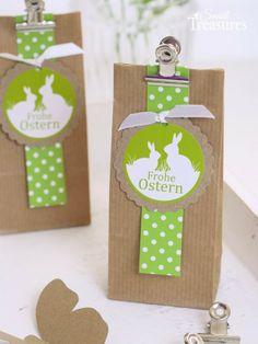 Small Treasures: Osterideen mit Kraftpapier und Apfelgrün