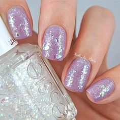 warm and toasty with a sparkle on top by essie - @nails_by_cindy looks positively radiant in 'warm