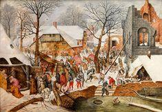 ANBETUNG DER HEILIGEN DREI KÖNIGE Öl auf Holz. 39,1 x 56 cm. Eigenhändige Arbeit von Pieter Brueghel d.J., entstanden nach 1616 in Antwerpen. Links unten...
