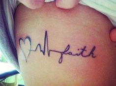 Small Heartbeat Line Tattoo Ideas From: TattoosWin.com/
