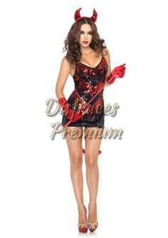 Dazzle in this Sexy Demon Darling Red Devil Costume designed to make you look hot! Costume Sexy, Devil Costume, Costume Dress, Girl Costumes, Adult Costumes, Costumes For Women, Costume Craze, High End Halloween Costumes, Christmas Costumes