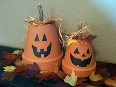 You don't need pumpkins... but you still can and put these out as well :)