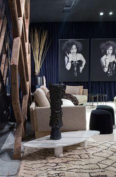 Tapete Zili White e Tapete Marroquino, presente no ambiente de Osvaldo Tenório na Mostra Black 2015