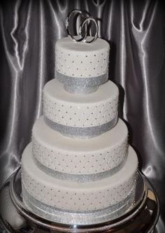 I love this cake! maybe a black or red band around the bottom instead of a band of diamonds.