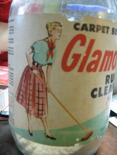 Glamorene Rug Cleaner Bottle 1952 Twitter #zusashicleaning