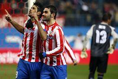 Máximo goleador de la Copa del Rey con 6 tantos, el delantero convirtió los dos goles que permiten al Atlético viajar con ventaja a Sevilla