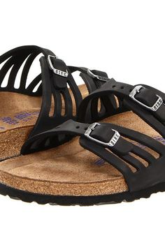 Birkenstock Granada Soft Footbed (Black Oiled Leather) Women's Sandals - Birkenstock, Granada Soft Footbed, 00192431/00192433, Women's Casual Sandals Sandals, Comfort, Casual Sandal, Open Footwear, Footwear, Shoes, Gift - Outfit Ideas And Street Style 2017