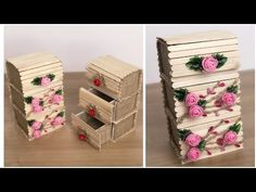 Making Multi Storage Box From Wicker Rope and Popsicle Sticks Lolly Stick Craft, Popsicle Stick Crafts For Kids, Popsicle Sticks, Craft Stick Projects, Craft Stick Crafts, Wood Crafts, Paper Crafts, Diy Home Crafts, Crafts To Make