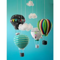 Craft Schmaft Hot Air Balloon Mobile Pattern | softies | Fabrics to Inspire - Kelani Fabric