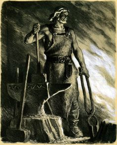 Ilmarinen the Eternal Hammerer blacksmith and inventor in the Kalevala is a god and an archetypal artificer from Finnish mythology He is immortal and capa Norse Mythology, Russian Mythology, Gods And Goddesses, Folklore, Character Concept, Contemporary Artists, Archaeology, Finland, Fairy Tales