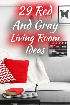 red and gray living room ideas you will love red and gray living room ideas you will love Mrs Bakhsh mrsbakhsh k Red and gray living room ideas you nbsp hellip Grey And Red Living Room, Red Couch Living Room, Red Living Room Decor, Accent Walls In Living Room, Grey Room, Red Living Rooms, Red Room Decor, Red Wall Decor, Room Decorations