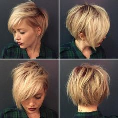 Messy, Shaggy Hairstyle for Short Hair - Short Haircuts 2016 Short Trendy Haircuts, Edgy Short Hair Styles, Short Straight Hair, Short Hair 2016, Fat Girl Short Hair, Short Hair For Girls, Short Feminine Haircuts, Short Hair Long Fringe, Hair Cuts Edgy