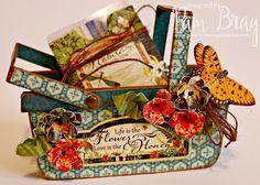 Scrapbook Flair: Pam Bray Designs: Heartfelt Gift Card Basket with Eileen Hull's Inspiration Team