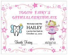 Printable pocket card tooth fairy with certificate and envelope printable pocket card tooth fairy with certificate and envelope for money diy gift idea for girls and boys see more best ideas about money yadclub Images