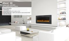 "Napoleon Allure 50"" inch NEFL50FH Electric Fireplace Wall Hanging Wall Mount…"
