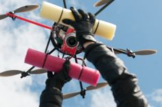 Ready for take-off: Olympus EPL2 camera  mounted to the  APH-22 marine hexacopter. Photo Hildering.