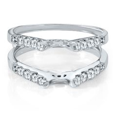 3/4ct TW Diamond Solitaire Ring Insert in 14K Gold available at #HelzbergDiamonds  My Beautiful wedding ring enhancer :)