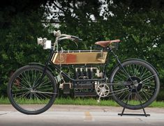 Vintage Motorcycles Classic vintage-motorcycles-gear-patrol-feature - Herein lies the 50 most iconic motorcycles motorized two-wheeled. History starts this way. Motorcycle Engine, Motorcycle Design, Motorcycle Gear, Bicycle Engine, Classic Motorcycle, Bicycle Design, Vintage Cycles, Vintage Bikes, Kawasaki Ninja