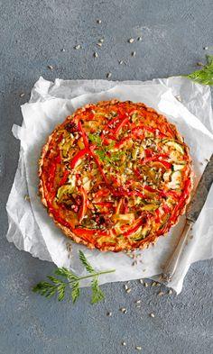 Kasvispiirakka | Maku Wine Recipes, Vegan Recipes, Cooking Recipes, Vegetable Pizza, Vegan Vegetarian, Quiche, Food And Drink, Favorite Recipes, Baking