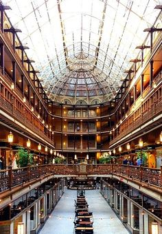 Always impressive, always stunning, historic Hyatt Regency Cleveland at The Arcade. Snapped by @jessiegw on Instagram.
