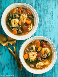 Sausage and Tortelloni Soup