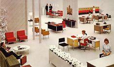 Mid-century modern office