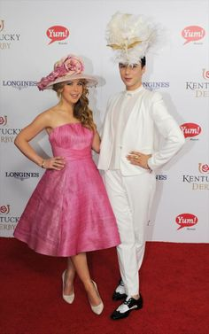 The outfits of the 2014 Kentucky Derby - NY Daily News: Tara Lipinksi & Johnny Weir