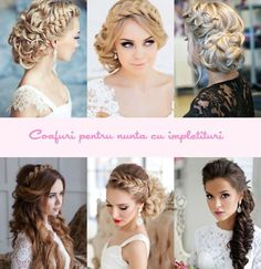 Coafuri mireasa cu impletituri Wedding Hairstyles, Hair Beauty, Hair Styles, Photography, Fotografie, Hairdos, Photography Business, Wedding Hair, Photo Shoot