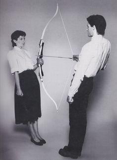 Ulay and Marina Abramovic via arteperformativa: REST ENERGY (WITH ULAY), 1980PERFORMANCE4 MIN