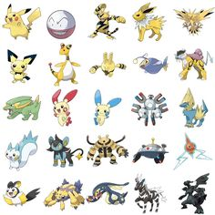 Electric Type Pokemon Can You Name The Pokémon Pictures