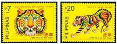 Philippines Philately Tiger Chinese New Year 2009
