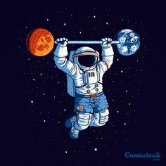 Camiseta 'Space Gym' - Catalogo Camiseteria.com