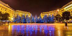 Τα Χριστούγεννα στην Ελλάδα σε 10 φωτογραφίες Thessaloniki, Macedonia, Ancient Greek, Greece, Mansions, House Styles, Places, Travel, Birth