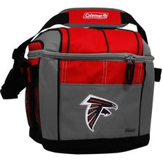 NFL 24 Can Soft Sided Cooler  http://allstarsportsfan.com/product/nfl-24-can-soft-sided-cooler/  Features embroidered full color team logo. Holds 24 cans of your favorite beverage. Liner made of FDA approved material.