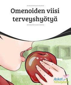 Omenoiden viisi terveyshyötyä  Omenat ovat yksi #syödyimmistä hedelmistä maailmassa, koska niitä saa ympäri vuoden ja ne ovat niin #monipuolisia ja täynnä #ravintoaineita.  #Terveellisetelämäntavat