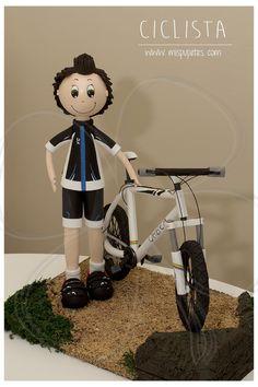 Fofucho ciclista para #regalocumpleaños www.mispupetes.com