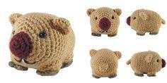 #haken, gratis patroon (Engels), amigurumi, wombat, knuffel, speelgoed, #crochet, free pattern, wombat, stuffed toy