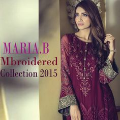 Stylish Mbroidered Designer Collection 2015 by MARIA.B http://fashiondesignslatest2012.blogspot.com/2015/02/Maria.B-Mbroidered-Designer-Collection.html