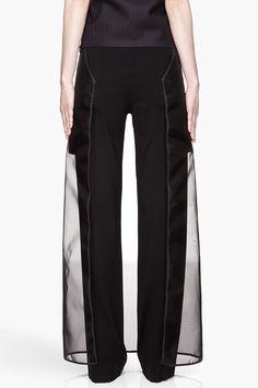 Maison Martin MARGIELA | Black Sheer Skirt Layered Trousers