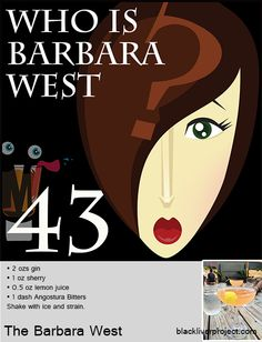 Episode Who is Barbara West - The Barbara West - This is a cocktail with no discernible history whatsoever. We could not locate it. So we imagined the possibilities and then we drank them. Classic Cocktails, Gin, History, Drinks, Glass, Drinking, Drinkware, Corning Glass, Drink