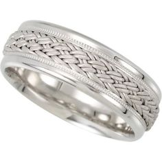 7.5mm Hand Woven Comfort Fit Ladies or Gents Wedding Band | Stuller.109280